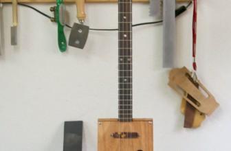 Cigar Box Guitar 4 cordes tortoise