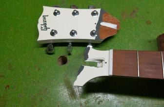 Gibson Les Paul Buckethead tête cassée