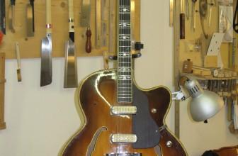Restauration guitare jazz Hofner 1964