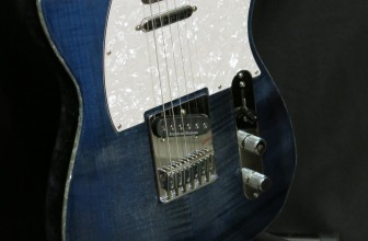 Telecaster Lo Piccolo Transparent Blue-Maple Flame top